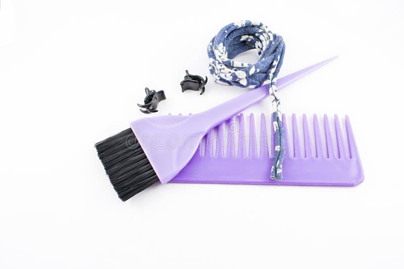 Spazzola e pettine per capelli fotografia stock
