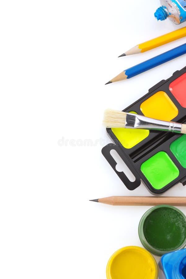 Download Spazzola E Pittura Su Bianco Fotografia Stock - Immagine di isolato, gocciolamento: 30826356