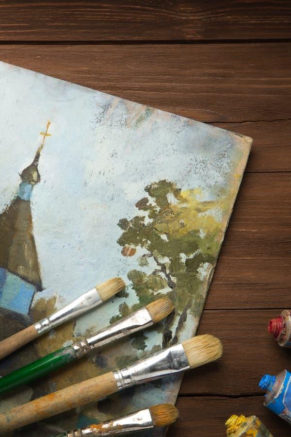 Download Spazzola E Pittura Sul Legno Fotografia Stock - Immagine di vernice, luminoso: 30826348