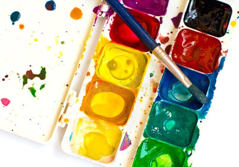 Spazzola e vernice immagine stock libera da diritti