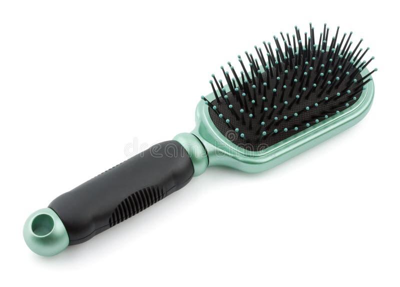 Spazzola per i capelli di plastica immagine stock libera da diritti