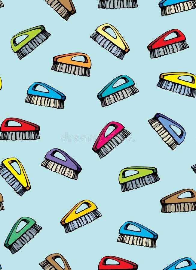 Spazzola per pulizia Illustrazione di vettore illustrazione di stock