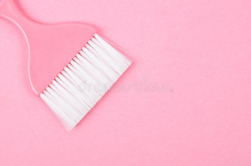Spazzola rosa per pulire immagini stock