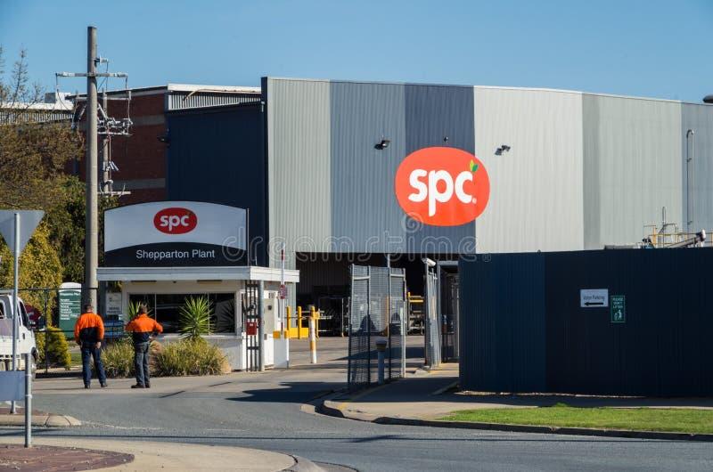 SPC Ardmona罐头工厂在Shepparton澳大利亚 免版税库存图片