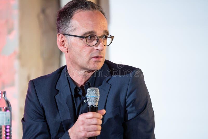 SPD辩论阵营的海科马斯在2018年12月 免版税库存照片