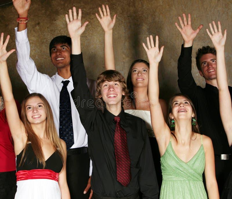 spełnianie różnorodni grupowi wiek dojrzewania zdjęcia royalty free