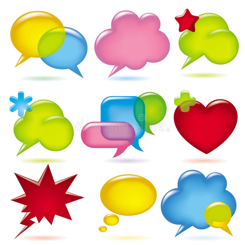 Free Speak Bubbles Royalty Free Stock Photography - 12516157