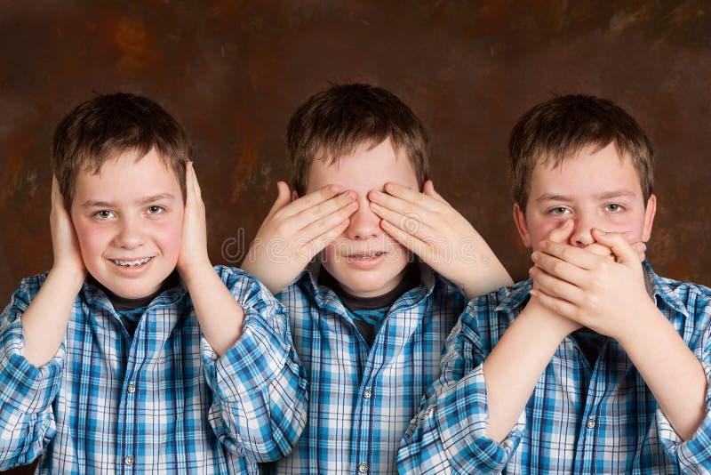 Download Speak hear see no evil stock image. Image of blind, face - 13604699