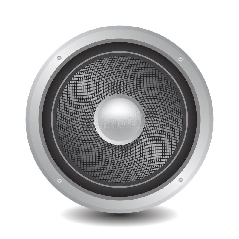 Speaker. Round speaker illustration on a white background vector illustration