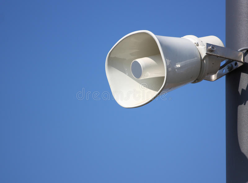 Download Speaker stock photo. Image of outdoor, blue, communication - 21605344