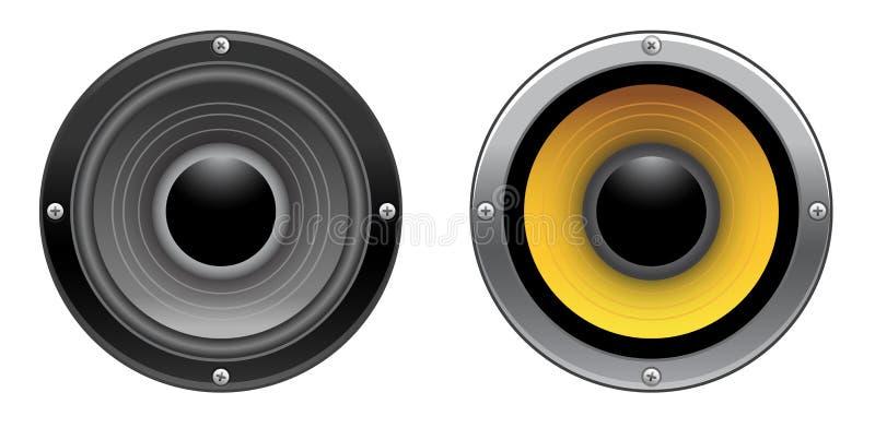 Download Speaker stock illustration. Image of bass, digital, chrome - 25654932