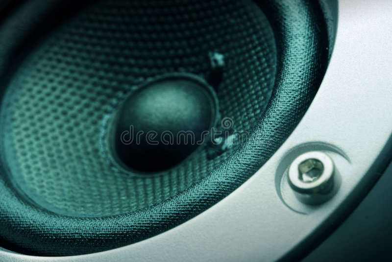 Speaker. Design view to part of reprobox royalty free stock image