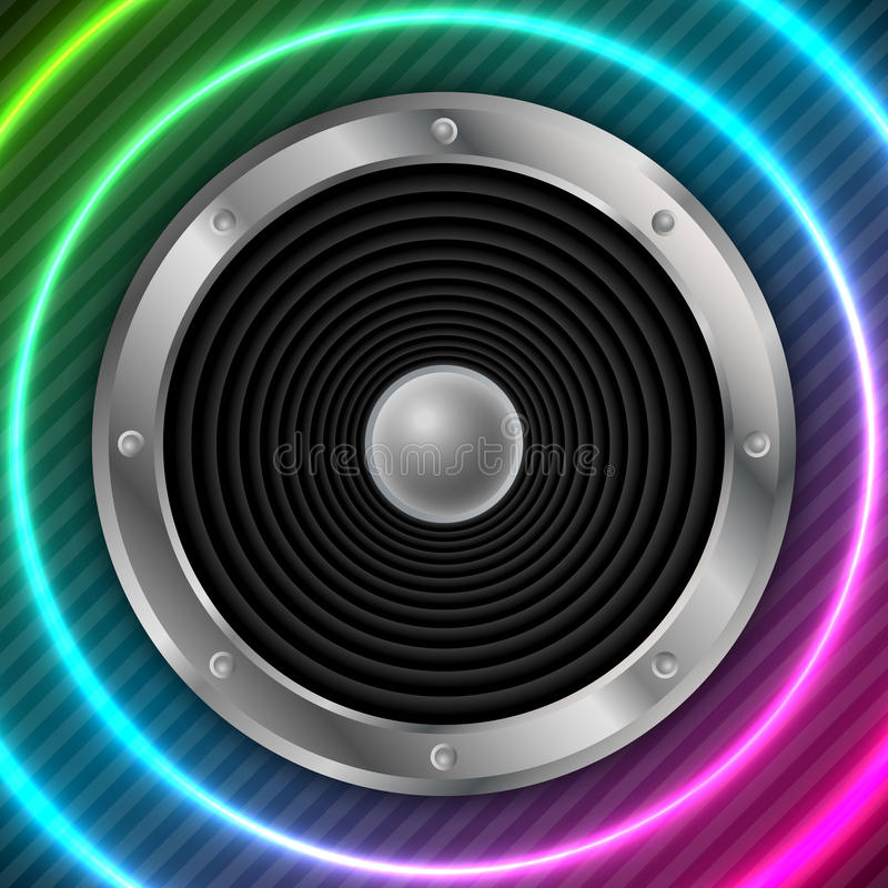 Speaker with abstract colorful background royalty free illustration