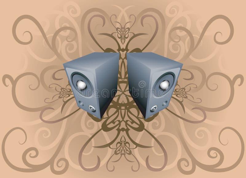 Speaker background royalty free illustration