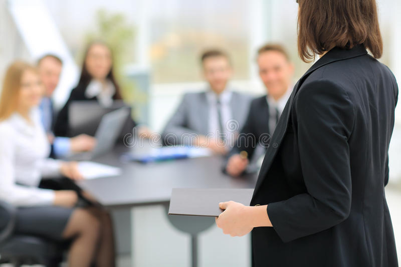 Speaker at Business Conference royalty free stock image