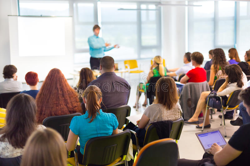 Speaker at Business convention and Presentation. royalty free stock photo