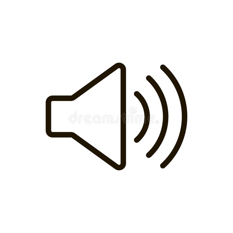 Speaker flat icon royalty free stock images