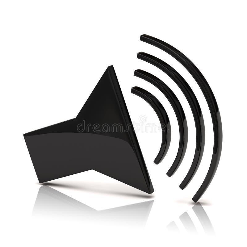 Speaker icon stock illustration