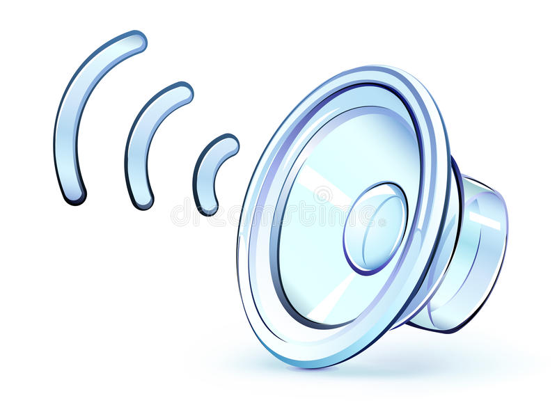 Download Speaker icon stock vector. Image of crystal, glossy, audio - 21511255