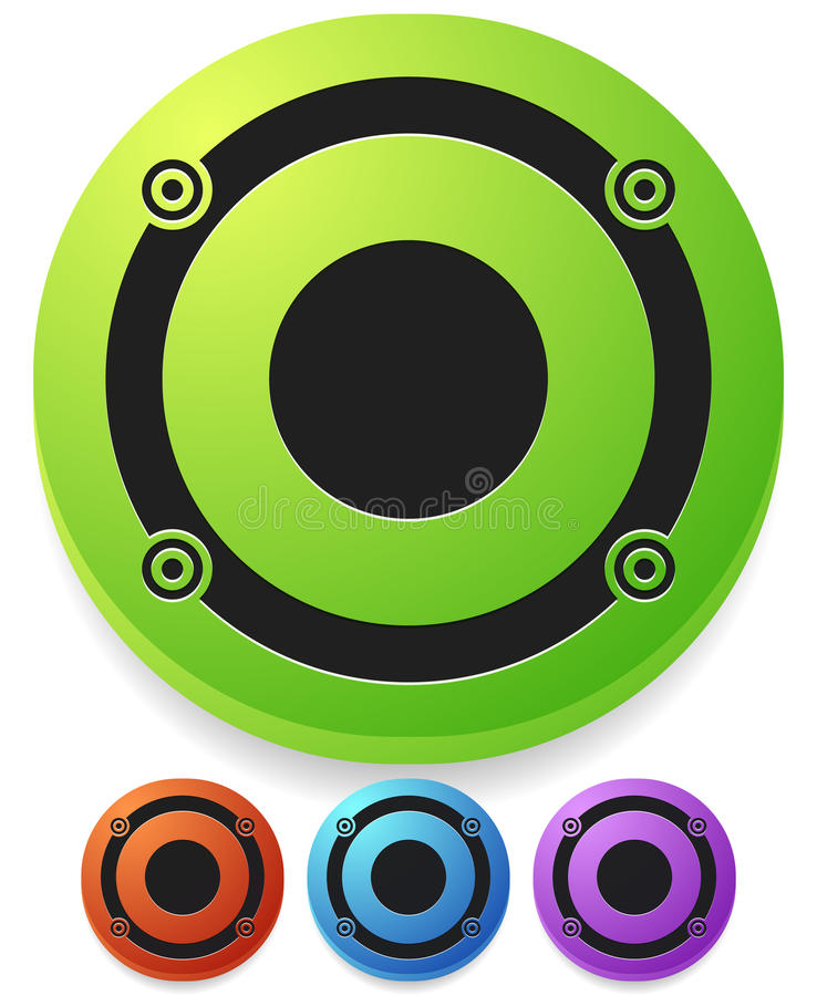 Speaker icon for audio, music related themes. Royalty free vector illustration royalty free illustration