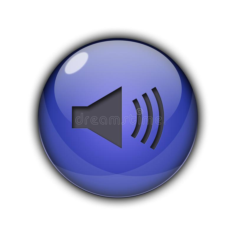 Speaker icons and buttons 3D Blue Color. Speaker icons and buttons Symbol sing 3d Multicolor; goldenm sky blue, dark blue, yellow, purple, red, orange, pink vector illustration