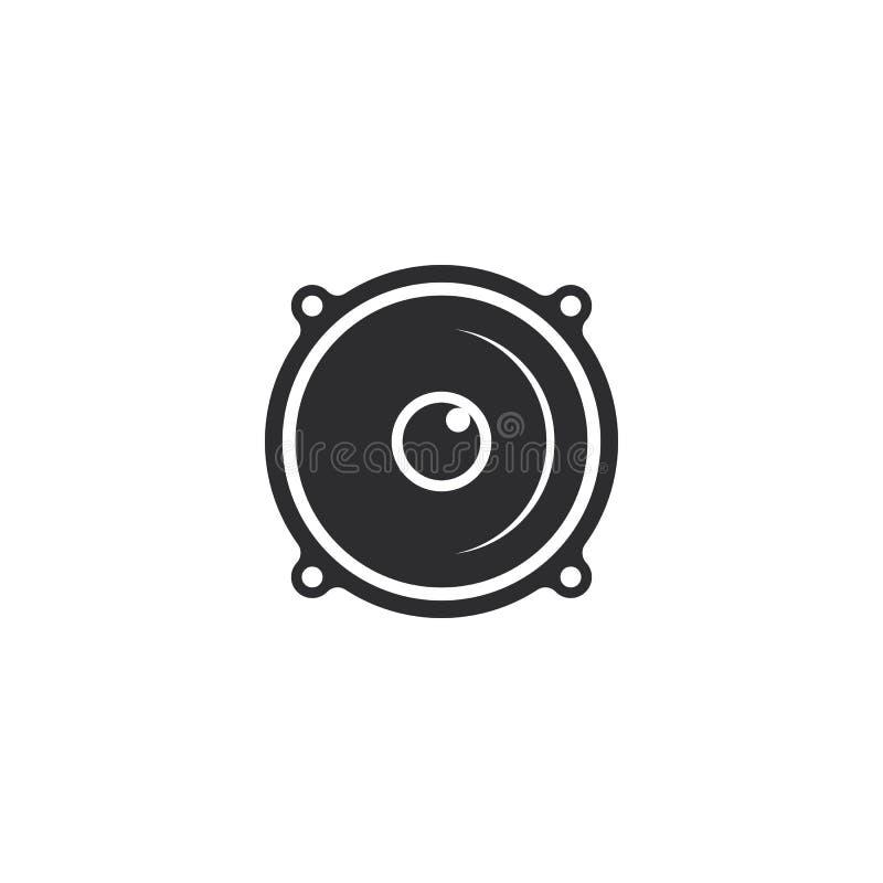 Speaker logo template vector icon illustration. Design, advertisement, advertising, announce, announcement, attention, broadcasting, business, businessman vector illustration