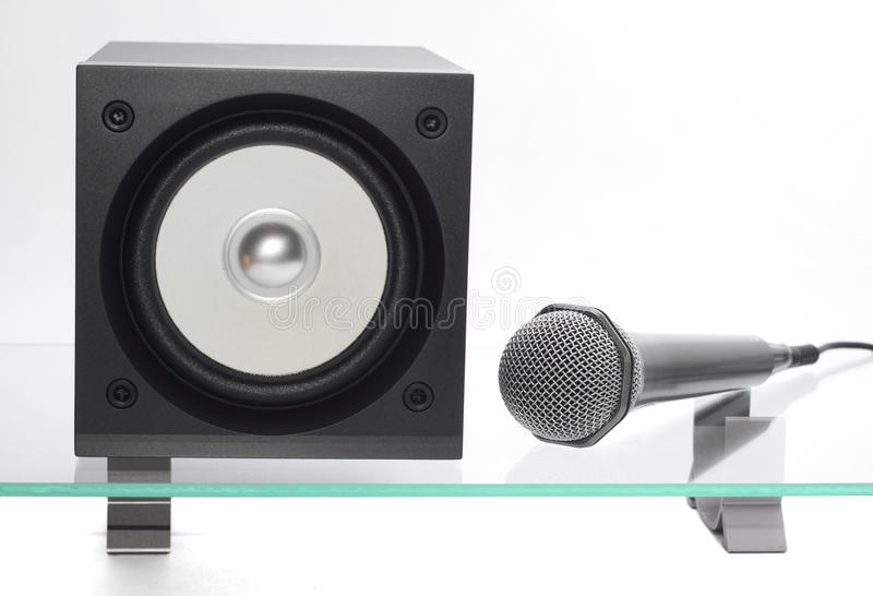 Download Speaker with microphone stock photo. Image of bass, equipment - 12151340