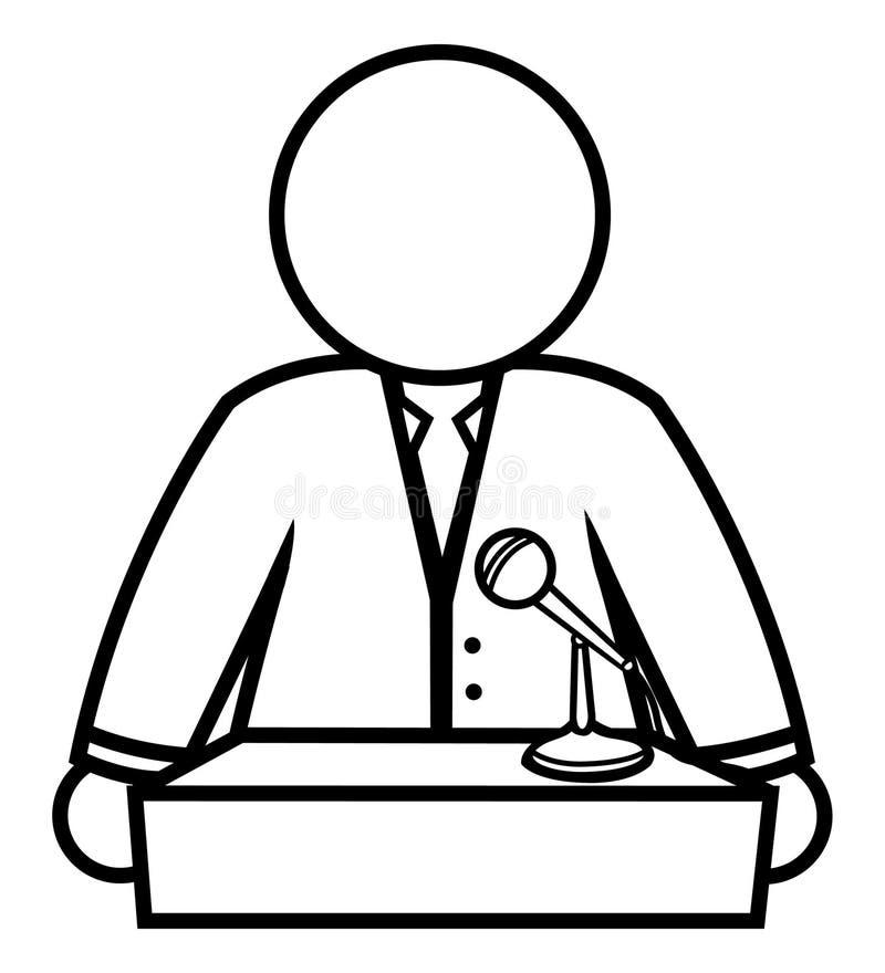 Download Speaker podium stock illustration. Illustration of male - 16468165