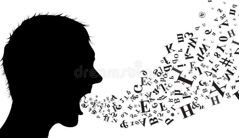 Speaker silhouette for you design stock illustration