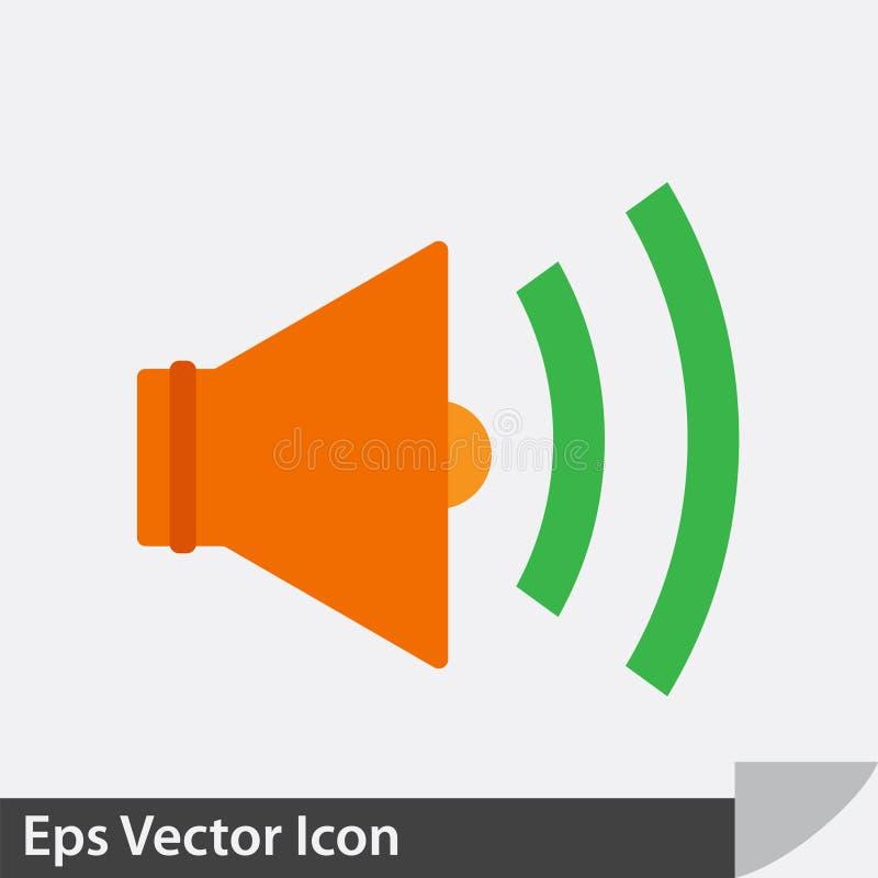 Speaker sound vector icon stock illustration