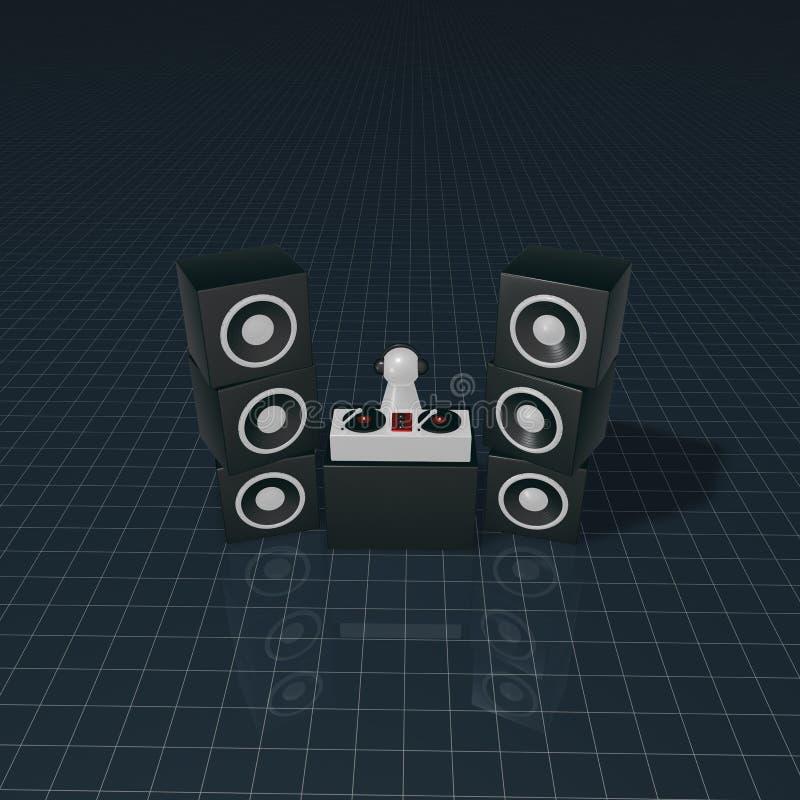 Speaker tower vector illustration