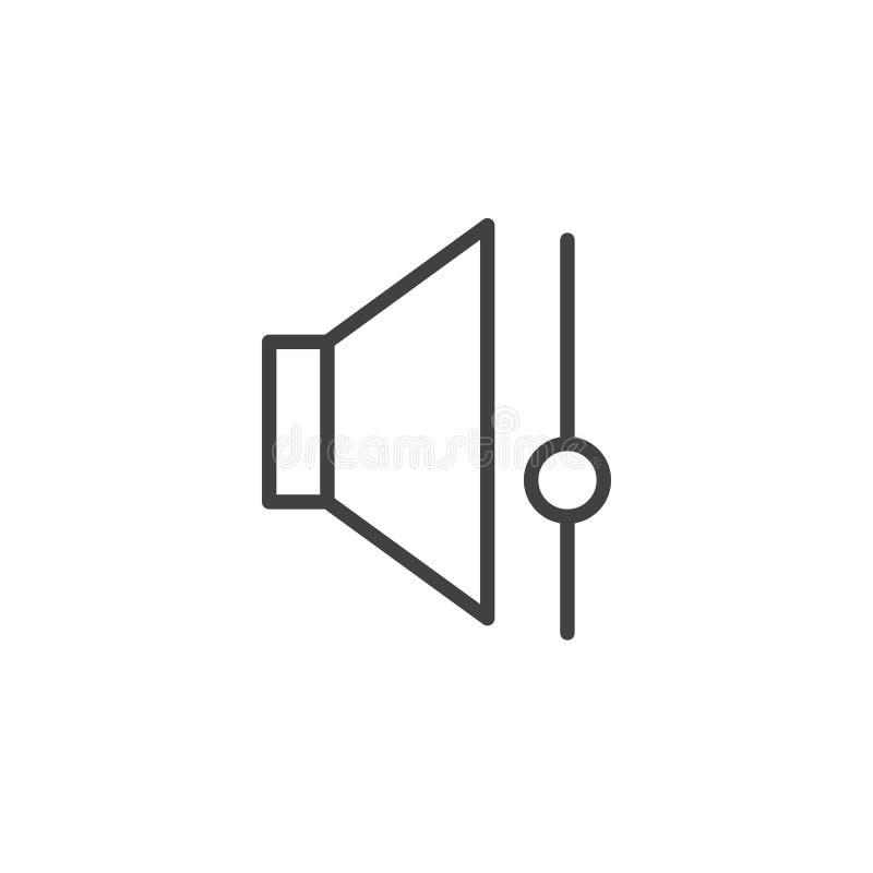 Speaker volume control line icon vector illustration
