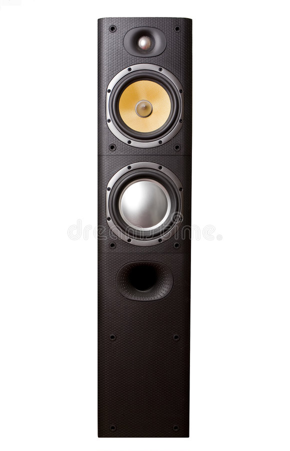 Speaker on White royalty free stock images