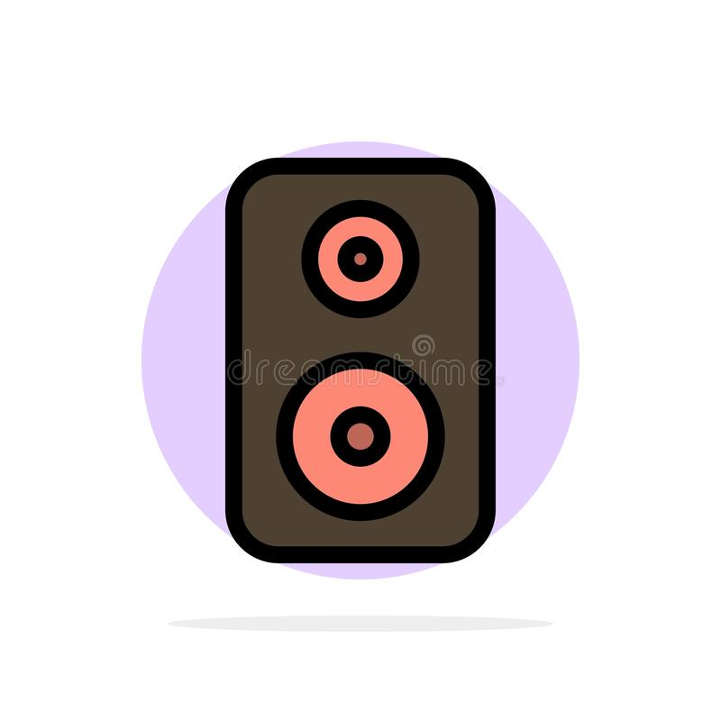 Speaker, Woofer, Laud Abstract Circle Background Flat color Icon royalty free illustration