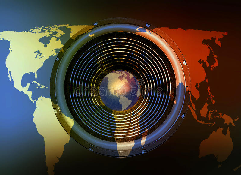 Speaker on a world map background stock image image of amplify download speaker on a world map background stock image image of amplify audience gumiabroncs Images