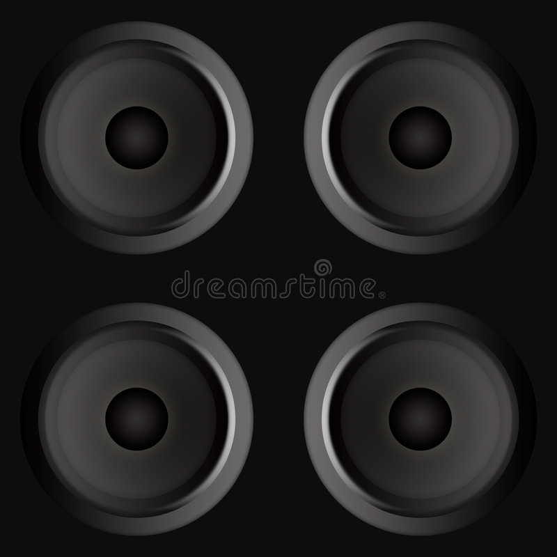 Speakers royalty free illustration