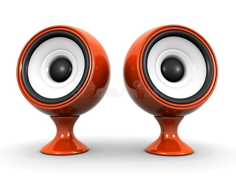Download Speakers stock illustration. Image of render, stereo - 22207115