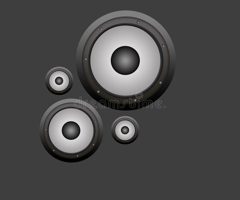 Download Speakers stock illustration. Image of background, speakers - 8412197