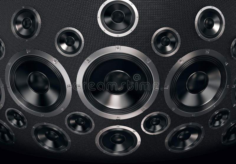 Speakers Background. Speakers abstract background. 3D render royalty free stock photography