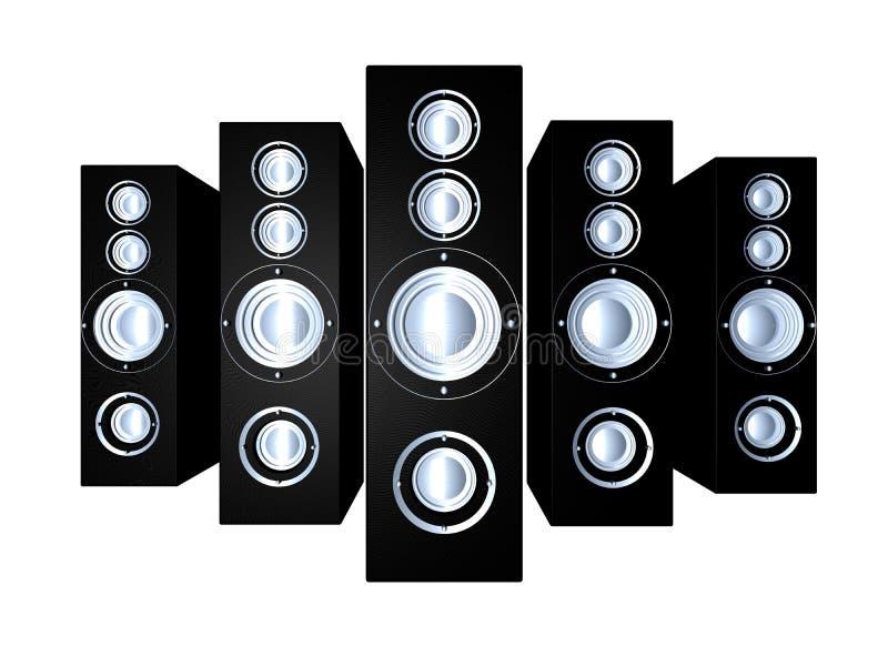 Speakers - Black 1 royalty free illustration