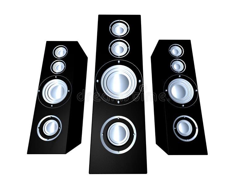 Speakers - Black 2 Royalty Free Stock Image