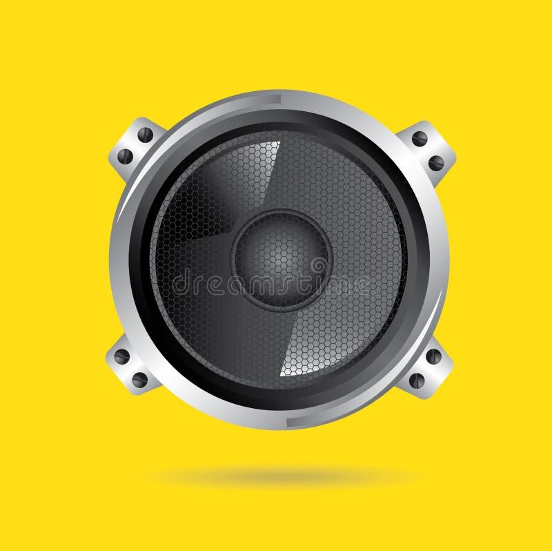 Speakers. Design over yellow background vector illustration stock illustration