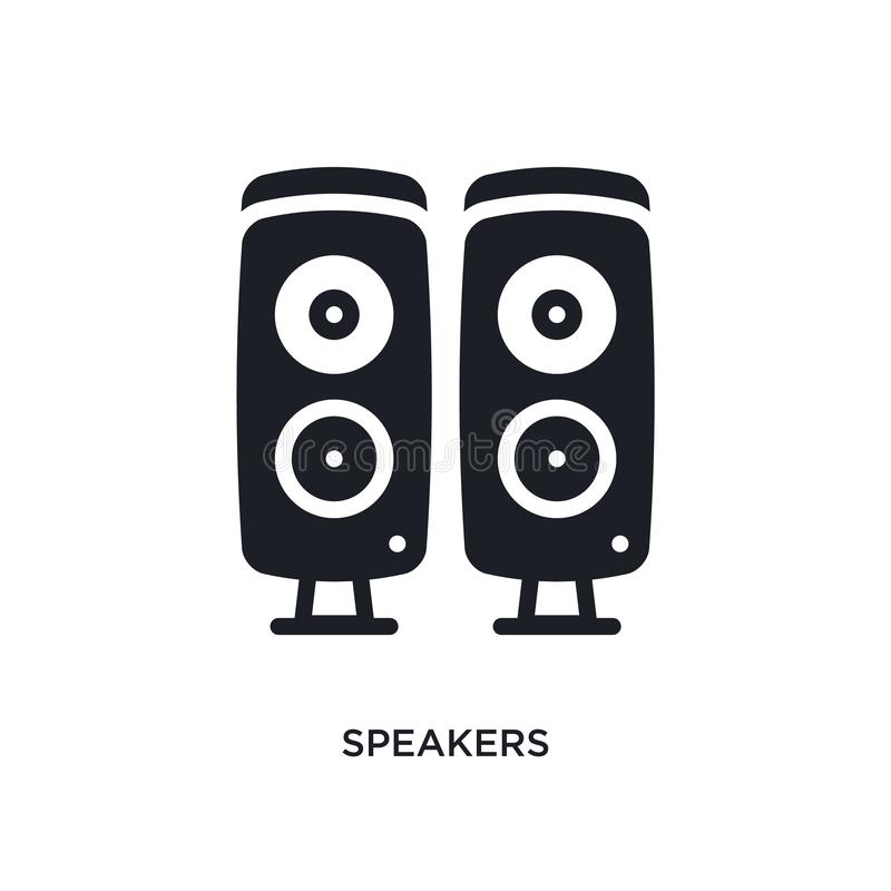 Speakers isolated icon. simple element illustration from electronic devices concept icons. speakers editable logo sign symbol. Design on white background. can vector illustration