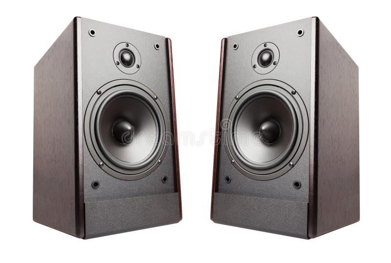 Speakers isolated. On white background royalty free stock image