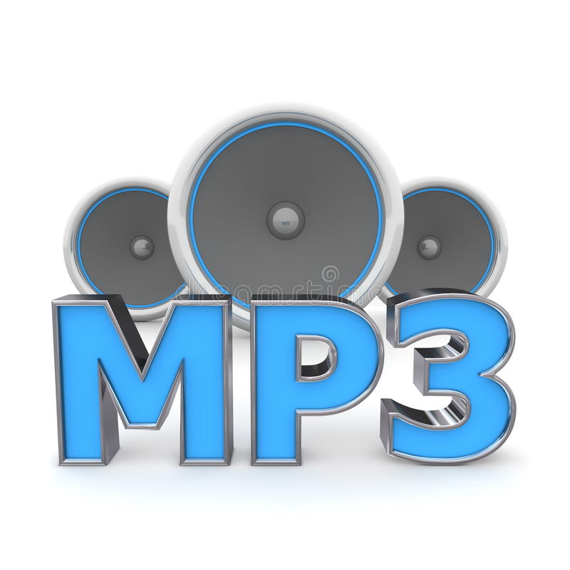 Free Speakers MP3 - Blue Stock Photography - 10504902
