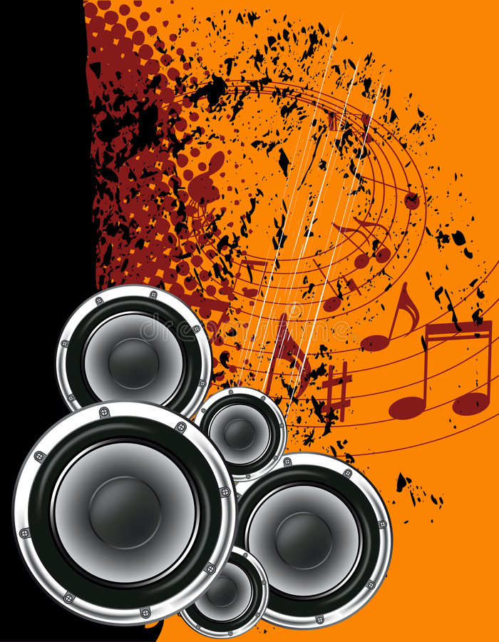 Download Speakers and notes stock vector. Illustration of illustration - 5060946