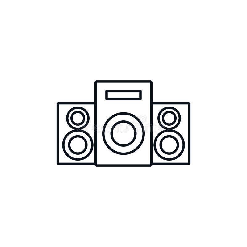 Speakers sound celebration party line design icon vector illustration