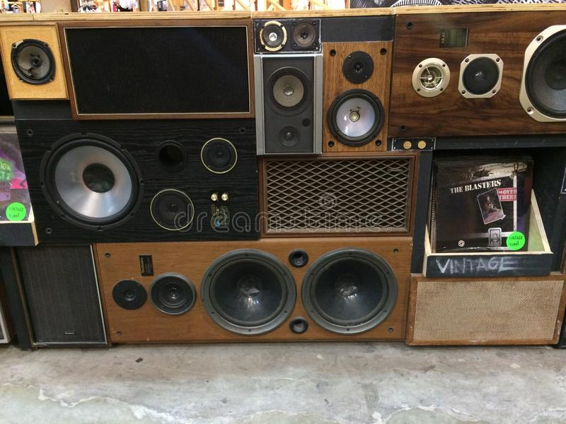 Speakers vintage stock photography