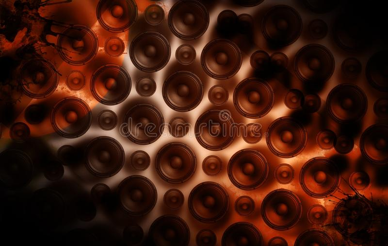 Download Speakers Wall stock illustration. Image of background - 21241303