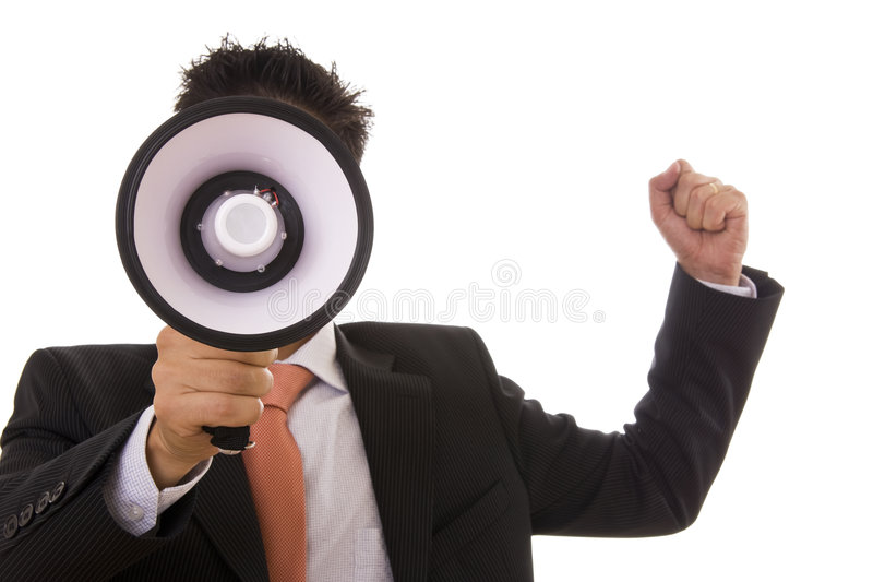 Download Speaking stock photo. Image of businessman, energy, loudness - 7110798